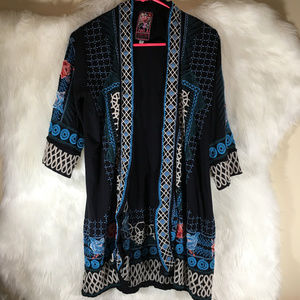 Johnny Was Los Angeles Embroidered Kimono Size XS
